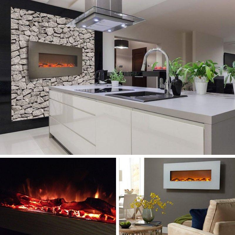 Three Upscale Electric Fireplaces...For Around $300!