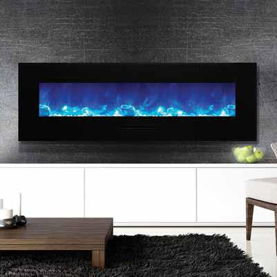 "Amantii 60"" Wall Mount Electric Fireplace WM-FM-60-7023-BG"
