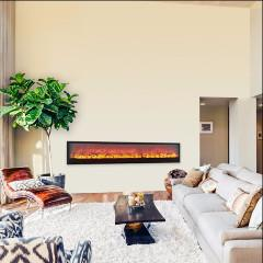 efficient electric wall fireplace