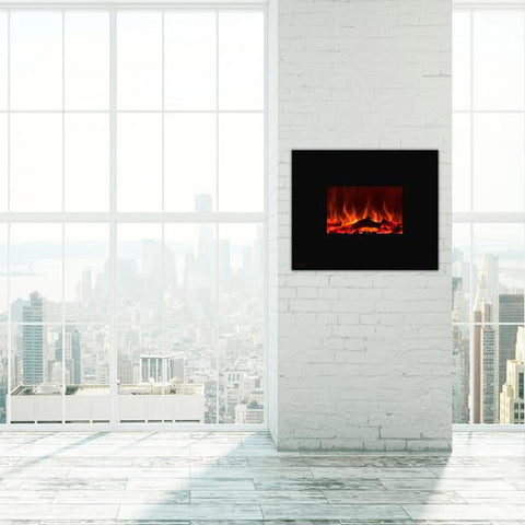 Ignis Royal Wall Mount Electric Fireplace with Logs
