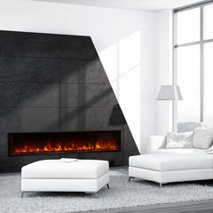 "Modern Flames 80"" Zero Clearance Built-in Fireplace Landscape FullView LFV80/15-SH"