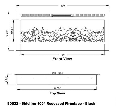 Touchstone-Sideline-Recessed-100-Inch-Electic-Fireplace-dimensions