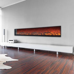 "Touchstone 134"" Wall-Length Electric Fireplace Emblazon (80105)"