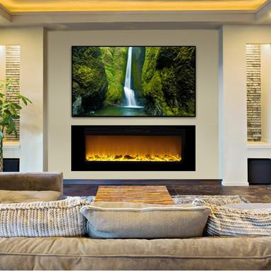 "Touchstone Sideline 60"" Recessed Electric Fireplace (80011)"