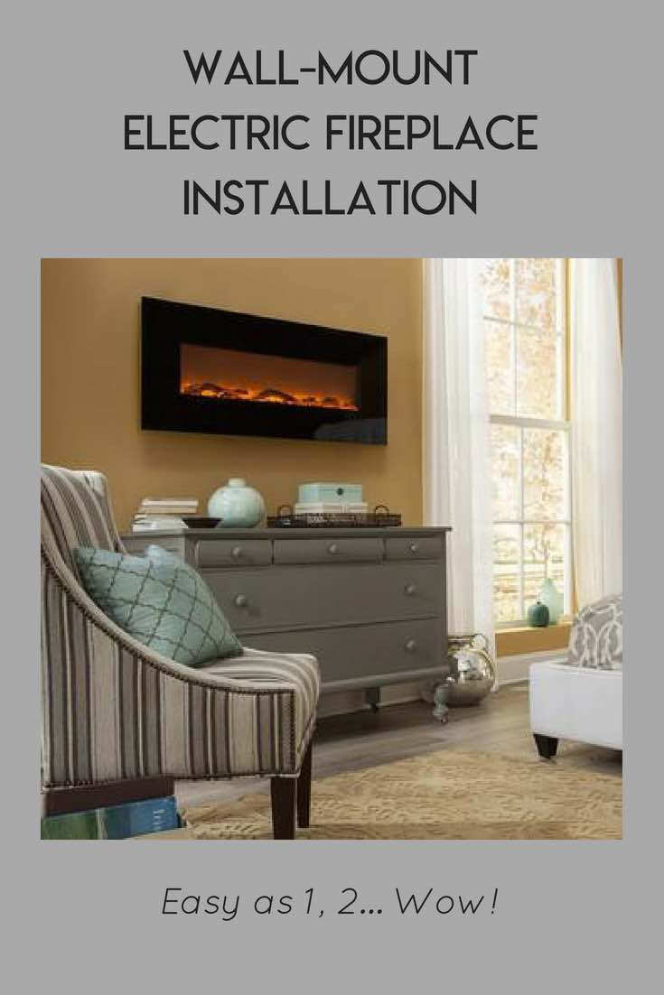 Wall Mount Electric Fireplace Installation