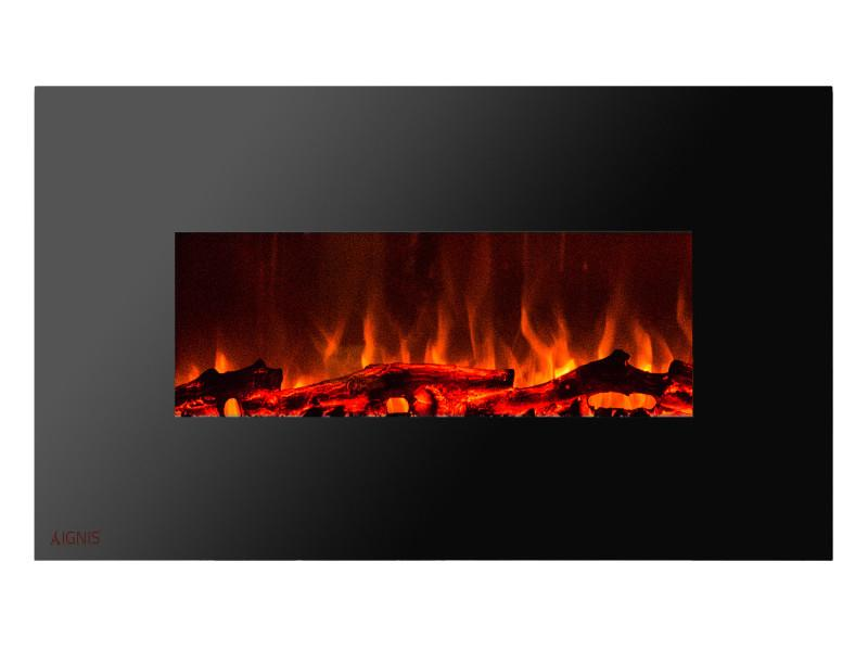 Ignis Royal 50 in Wall Mount Electric Fireplace with Logs
