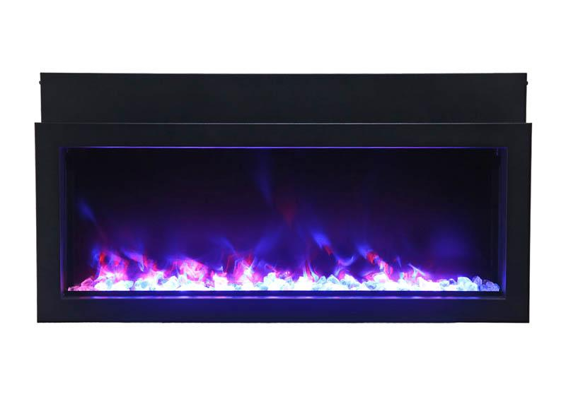 Amantii Panorama Built-in Extra Slim 40 inch Electric Fireplace in Black