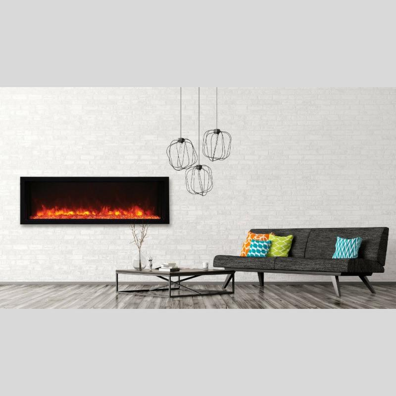 Amantii Electric Fireplace Panorama Built-in Extra Slim 50 inch in Black