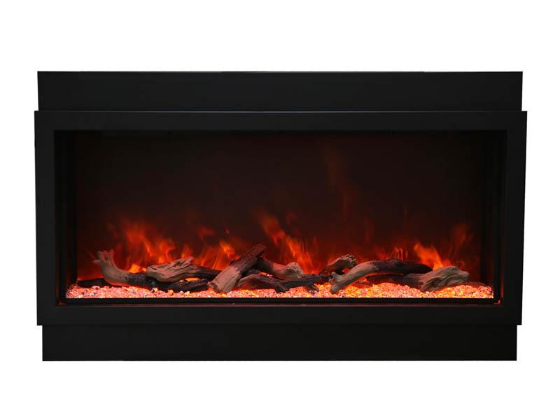 Amantii Electric Fireplace Indoor Outdoor Panorama Built-in Deep Extra Tall 40 inch in Black
