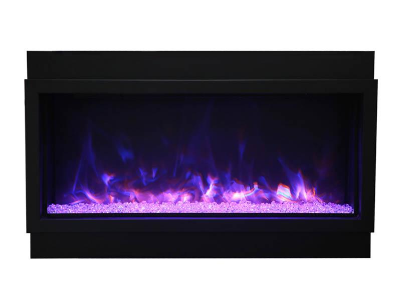 Amantii Electric Fireplace Indoor Outdoor Panorama Built-in Deep Extra Tall 72 inch in Black