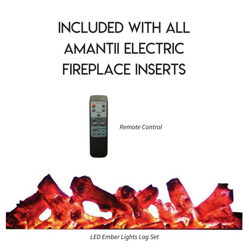 Amantii 30 inch Electric Fireplace Insert in Black or ...