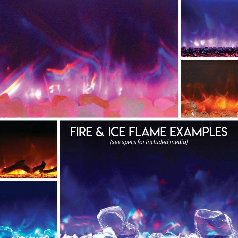 Amantii Electric Fireplaces Fire and Ice Flame Examples