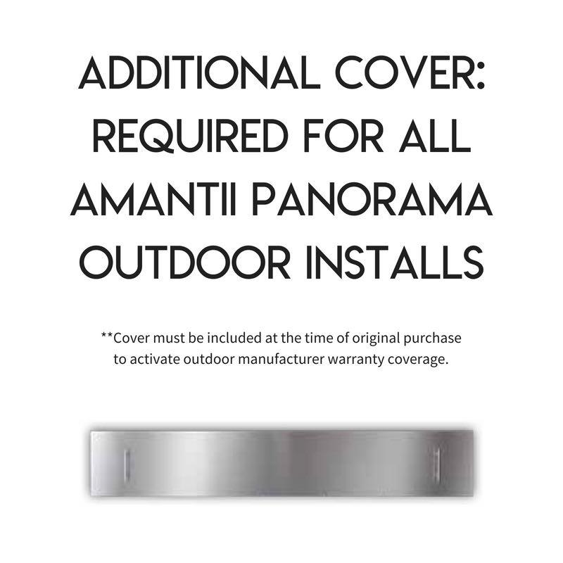 Amantii Indoor Outdoor Electric Fireplace Panorama Built in Deep 88 inch Outdoor Cover