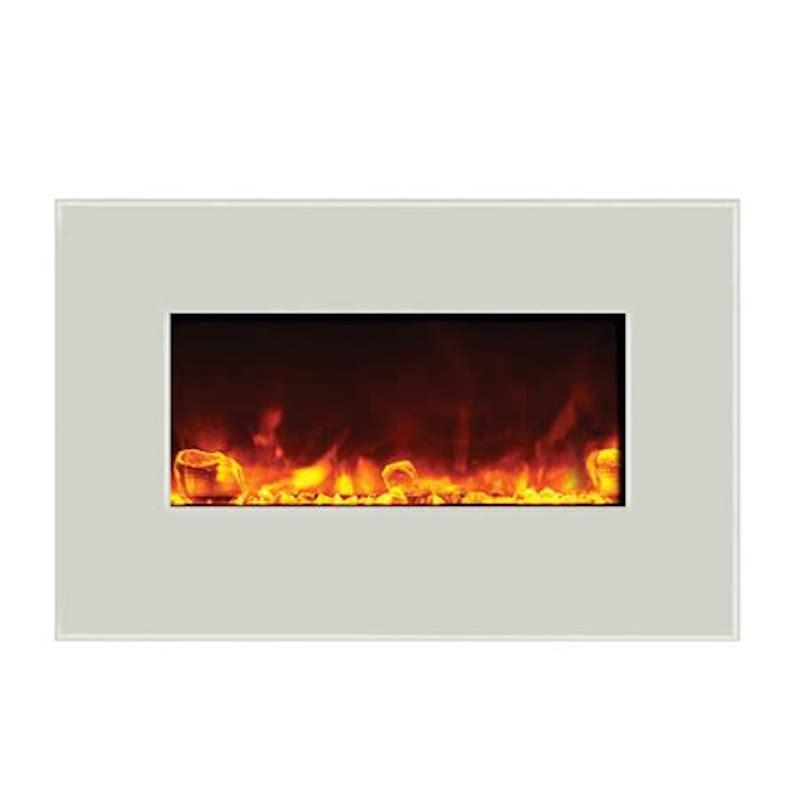 Amantii Wall Mount Flush 26 inch White Electric Fireplace
