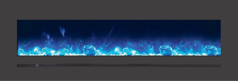 Sierra Flame Wall Mount Flush 60 inch Electric Fireplace in Black Steel