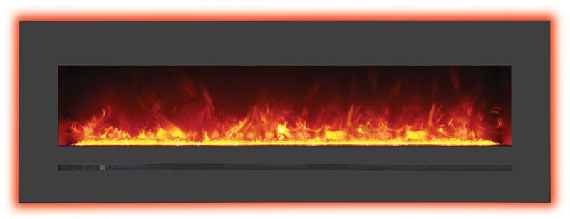 Sierra Flame Wall Mount Flush 60 inch Electric Fireplace Backlighting