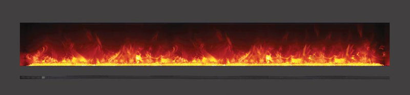 Sierra Flame Wall Mount 88 inch Linear Electric Fireplace Orange Flame