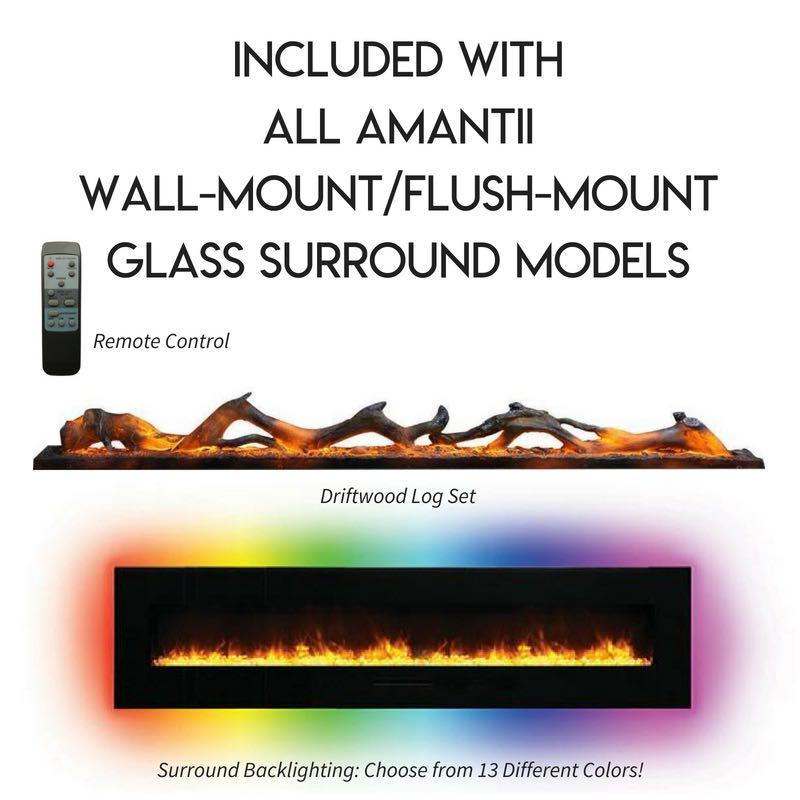 Amantii Wall Mount Flush 26 inch Electric Fireplace Accessories