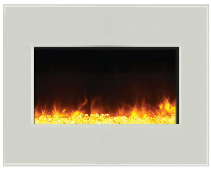 "Amantii 26"" Zero Clearance White Electric Fireplace"