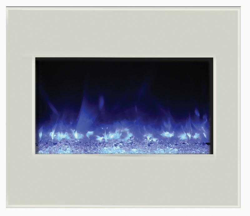 Amantii Zero Clearance 30 inch White Electric Fireplace