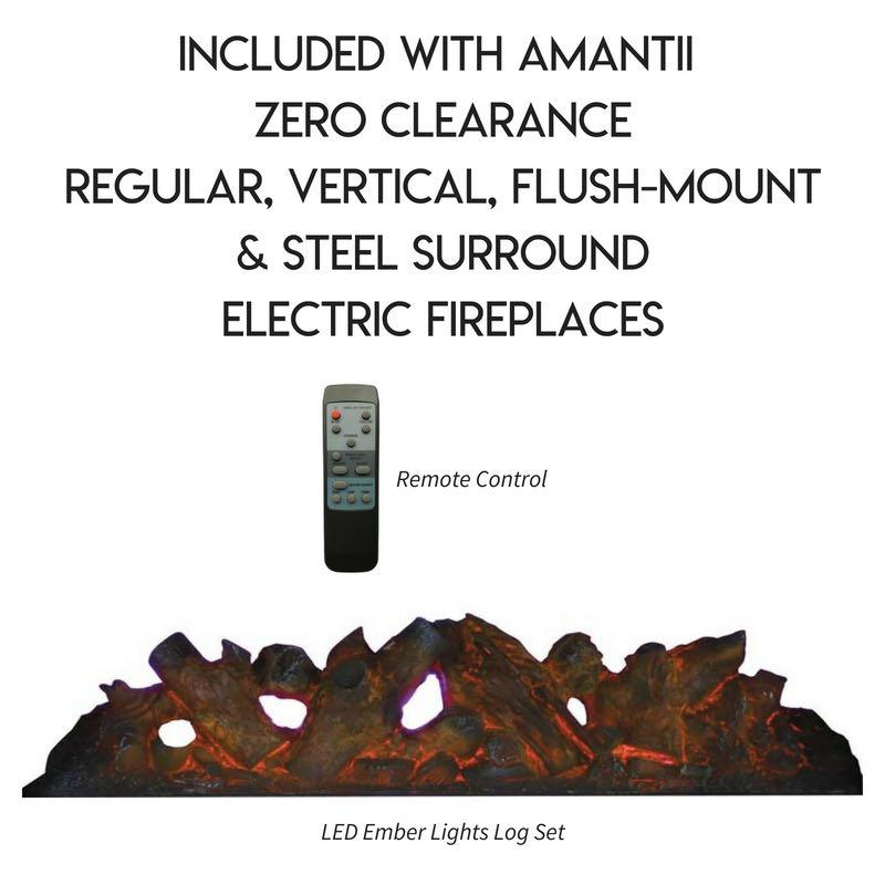 Amantii Zero Clearance Vertical 39 inch Electric Fireplace Accessories