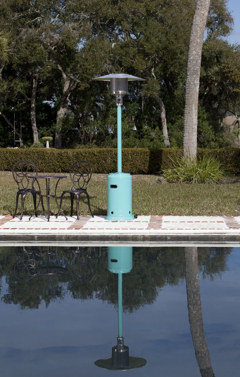 Aqua Blue Powder Coated Patio Heater