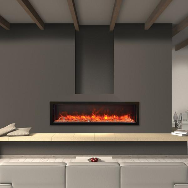 "Amantii 60"" Electric Fireplace Indoor or Outdoor Built-in BI-60-DEEP"