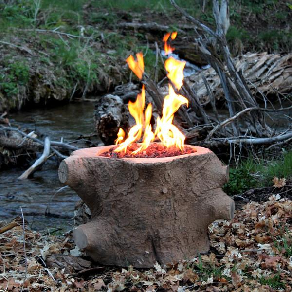 CC Products Redwood Stump Fire Pit