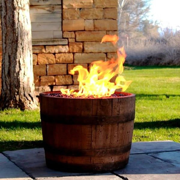 CC Products Wine Barrel Fire Pit (Oil Rubbed)