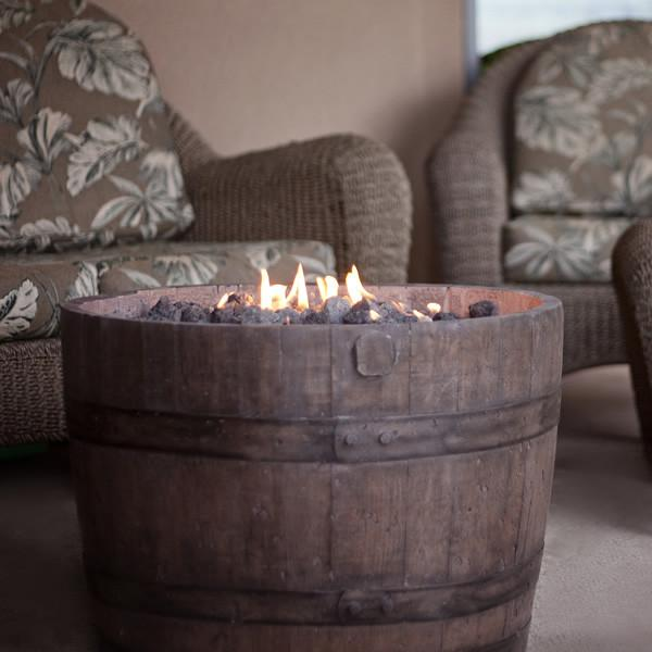 CC Products Wine Barrel FirePit (Oil Rubbed)