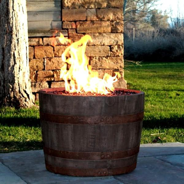 CC Products Wine Barrel FirePit (Rust)