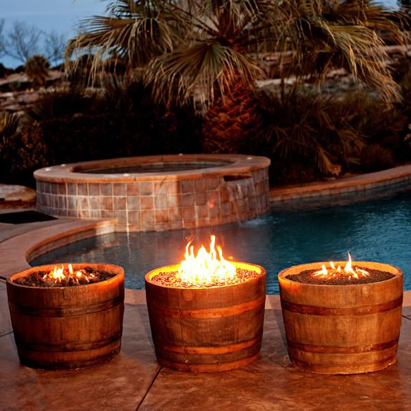 CC Products Wine Barrel Fire Pit (Rust)