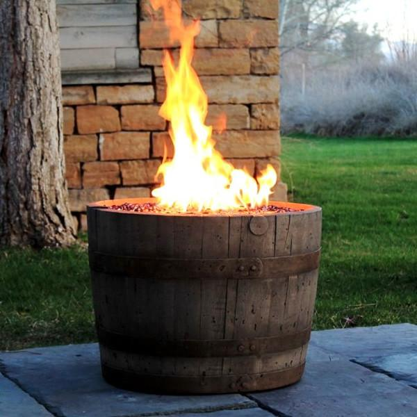CC Products Wine Barrel Fire Pit (Weathered) ... - CC Products Barrel Fire Pit (Weathered) – The Noble Flame