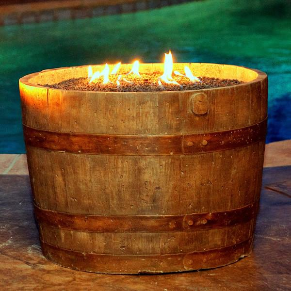 CC Products Wine Barrel FirePit (Weathered)