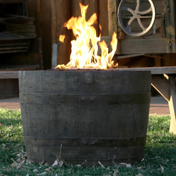 CC Products Wine Barrel Fire Pit (Weathered)