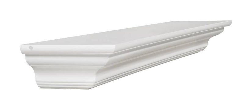 Pearl Mantels Crestwood Fireplace Mantel Shelf in White Paint angle