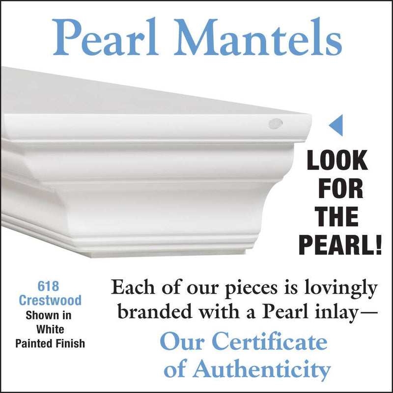 Pearl Mantels Crestwood Fireplace Mantel Shelf in White Paint detail