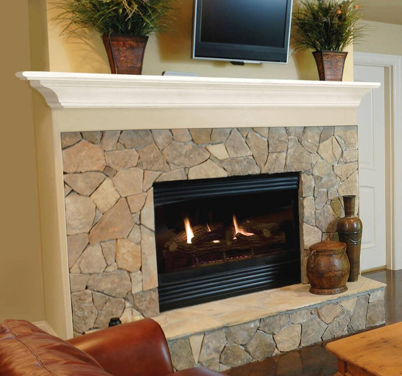 Pearl Mantels Crestwood Fireplace Mantel Shelf in White Paint