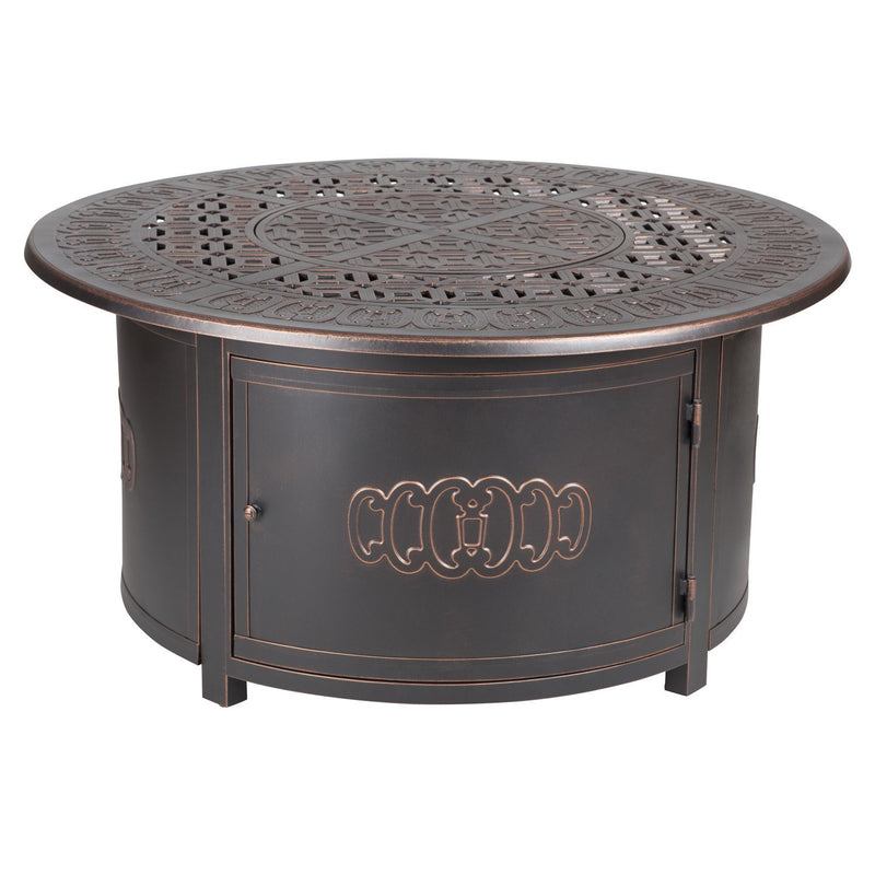 Dynasty Round Cast Aluminum LPG FirePit