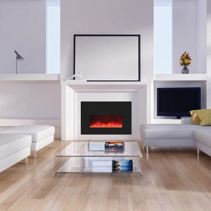 Amantii 26 inch Electric Fireplace Insert in Black Glass