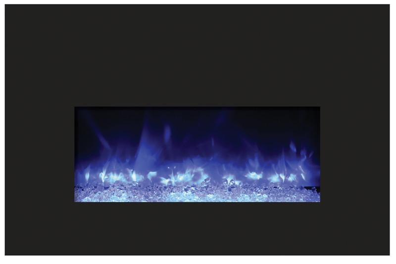 Amantii 33 inch Electric Fireplace Insert in Black Glass