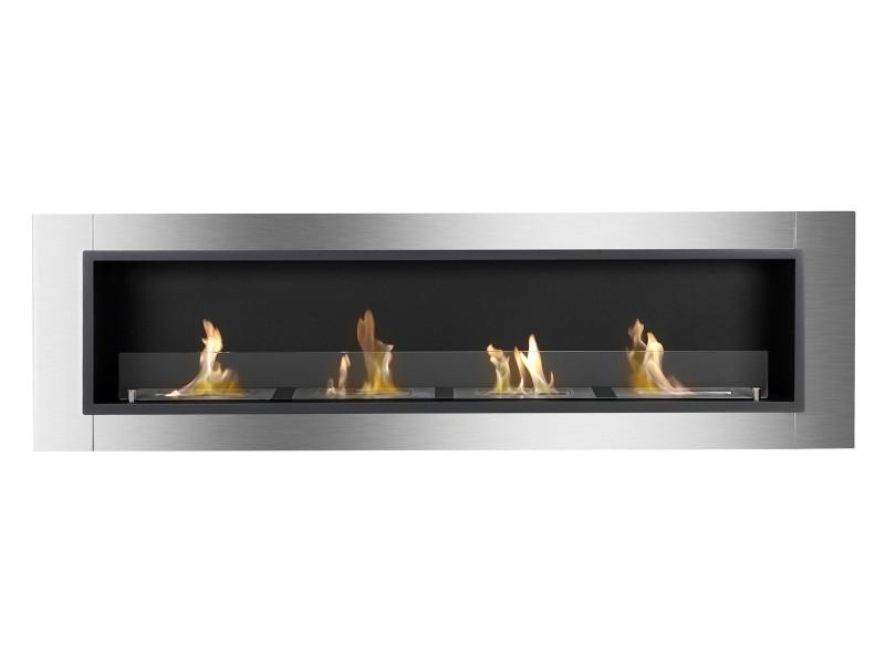 Ignis Accalia Wall Mounted Recessed 60 in Ventless Ethanol Fireplace