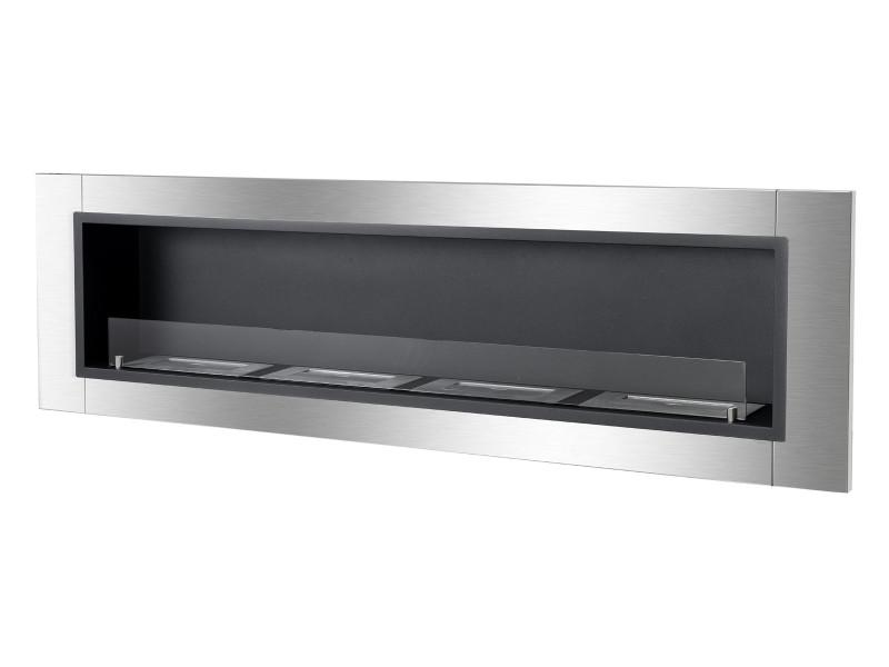 Ignis Accalia Wall Mounted 60 inch Recessed Ventless Ethanol Fireplace