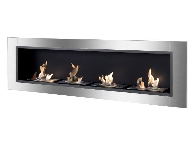 Ignis Accalia Wall Mounted 60 Recessed Ventless Ethanol Fireplace