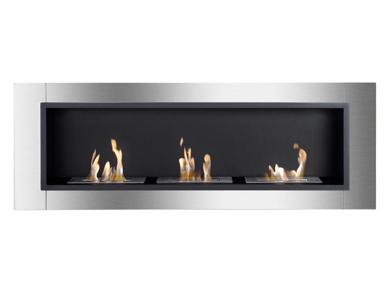 Ignis Ardella Wall Mounted 50 in Recessed Ventless Ethanol Fireplace