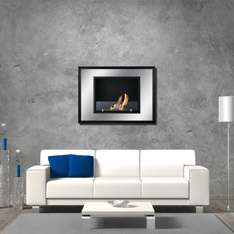Ignis Bellezza Mini 30 in Wall Mounted Recessed Ventless Ethanol Fireplace