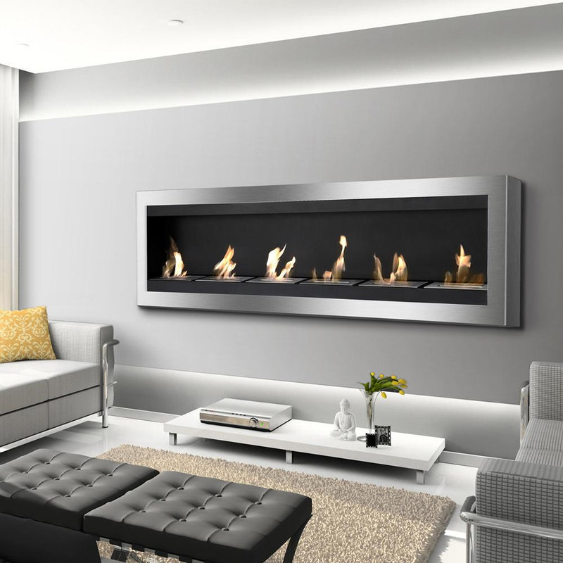 Ignis Maximum 80 in Wall Mounted Ventless Ethanol Fireplace