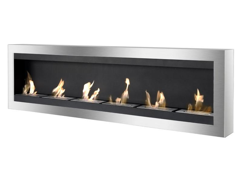 Ignis Maximum Wall Mounted 80 in Ventless Ethanol Fireplace