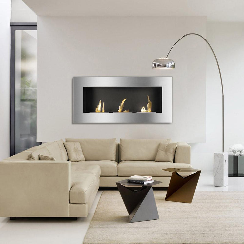 Ignis Optimum 60 in Wall Mounted Recessed Ventless Ethanol Fireplace