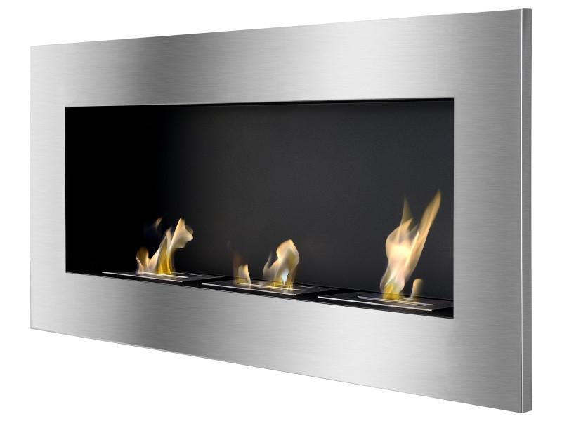 Ignis Optimum Wall Mounted 60 in Recessed Ventless Ethanol Fireplace
